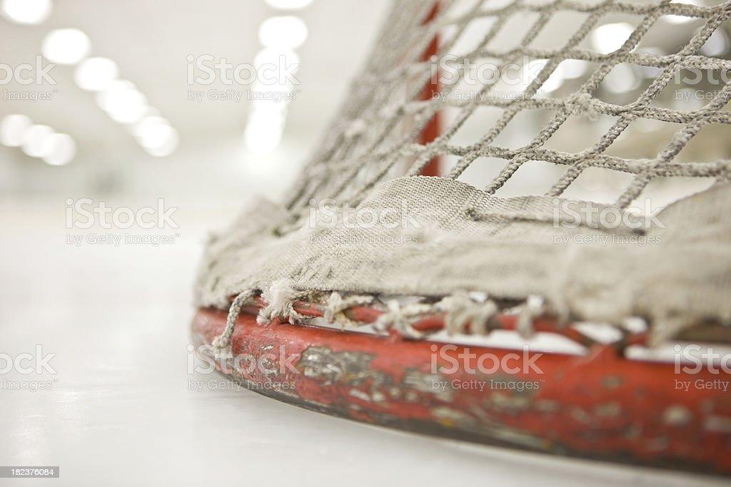 Hockey Goal from Ice Level stock photo