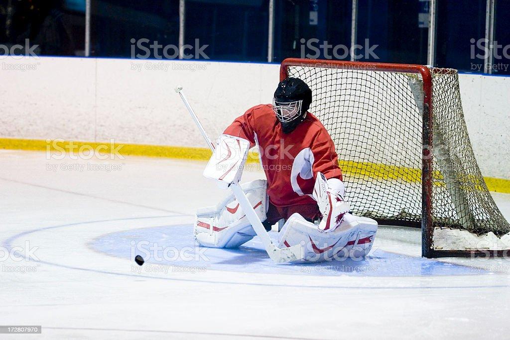 Recreational hockey league goalie