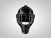 Hockey helm front isolated