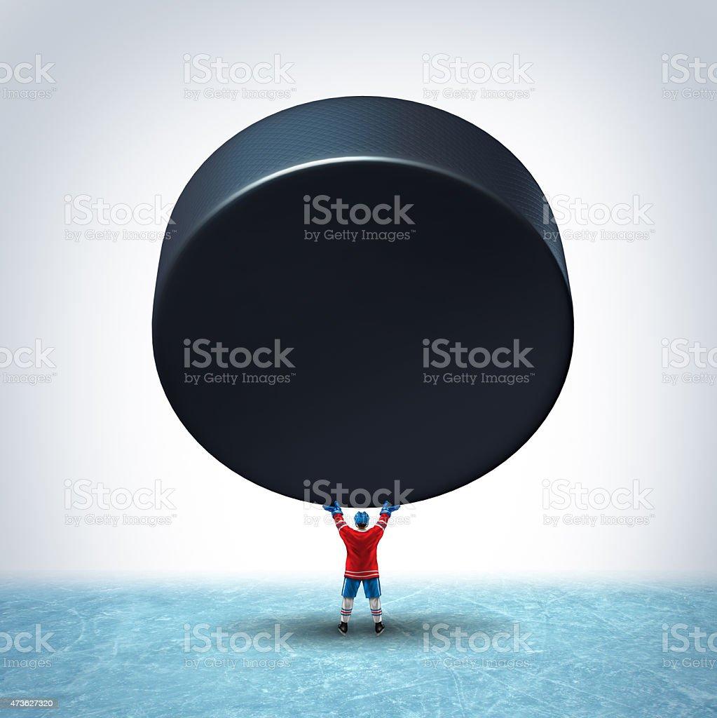 Hockey Ice Champion stock photo