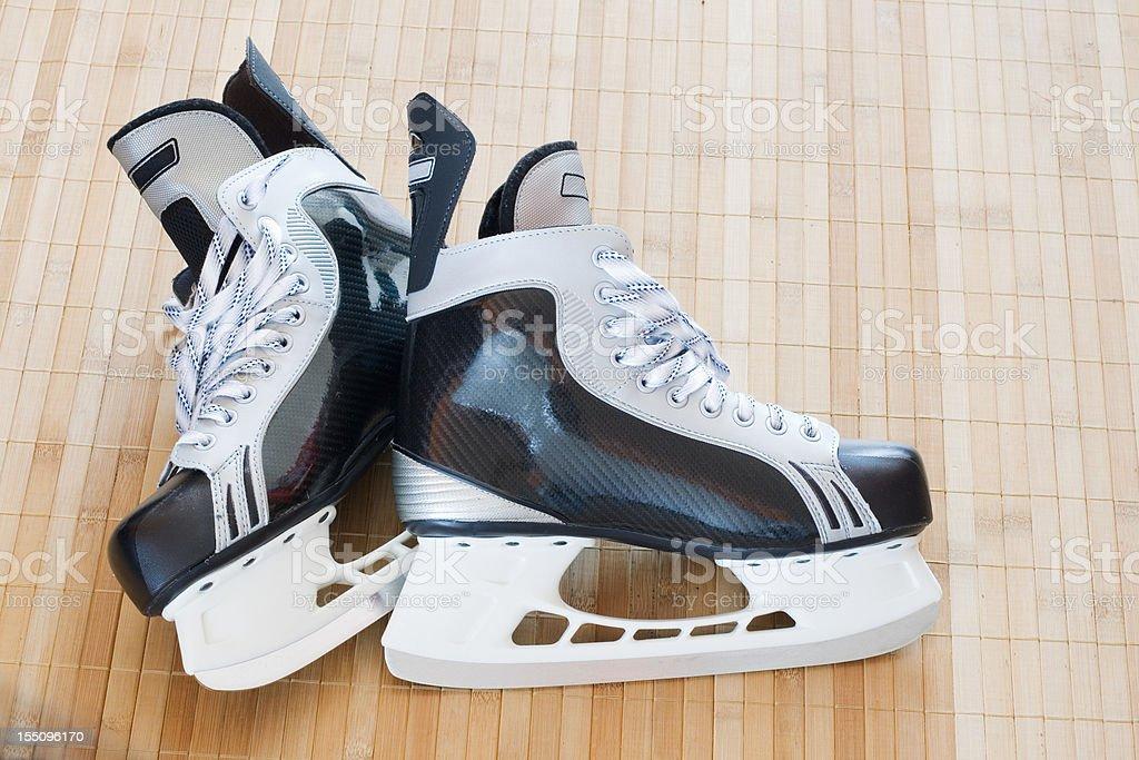 Hockey ice skates royalty-free stock photo
