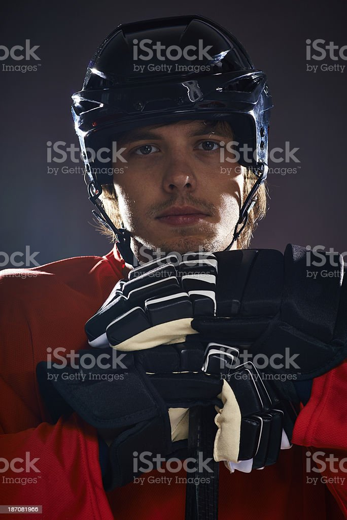 Hockey is a lifestyle royalty-free stock photo