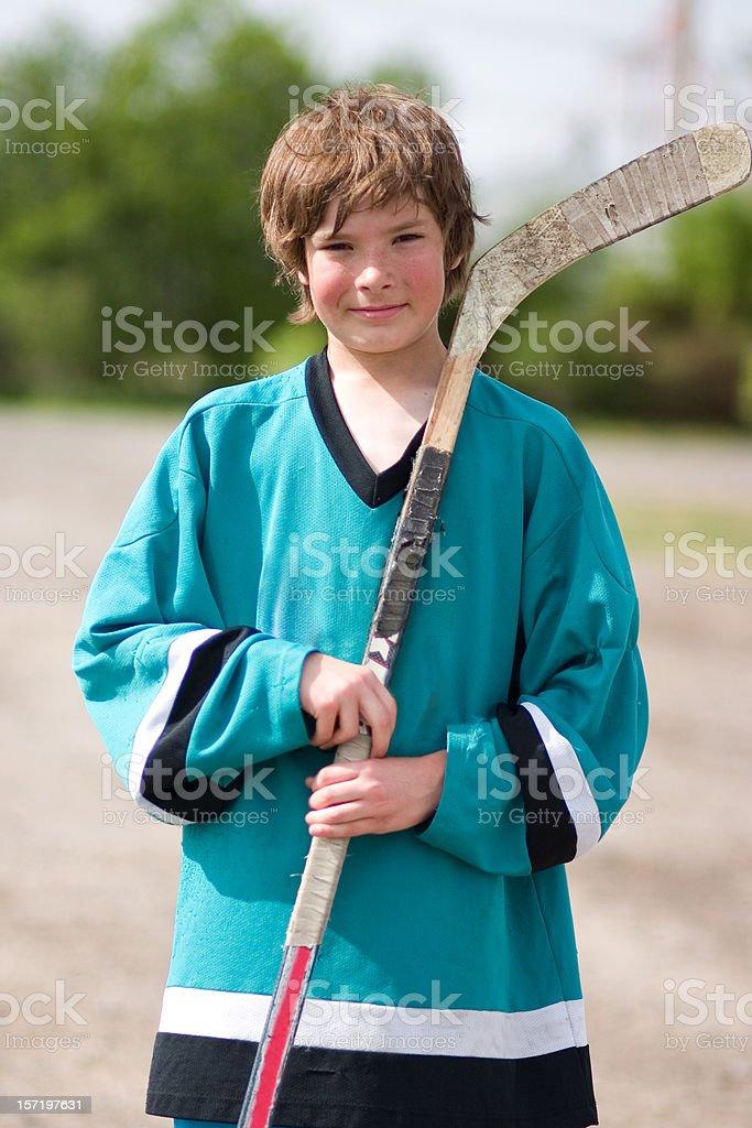 Hockey Kid stock photo