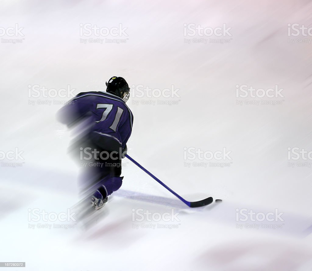 Hockey Player Action Shot stock photo