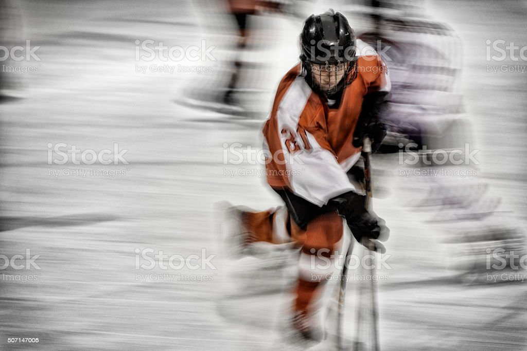 Hockey Player Movement stock photo