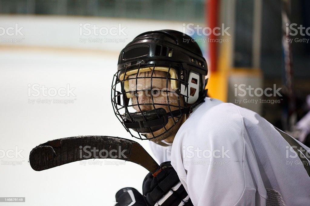 Hockey player stock photo