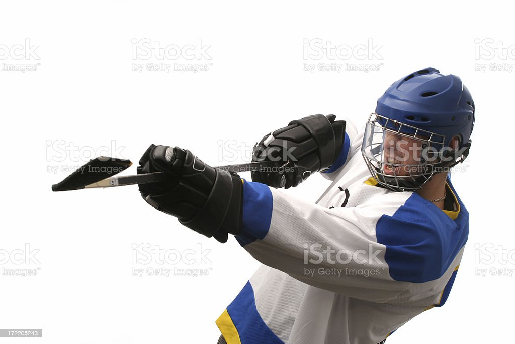 Hockey player royalty-free stock photo