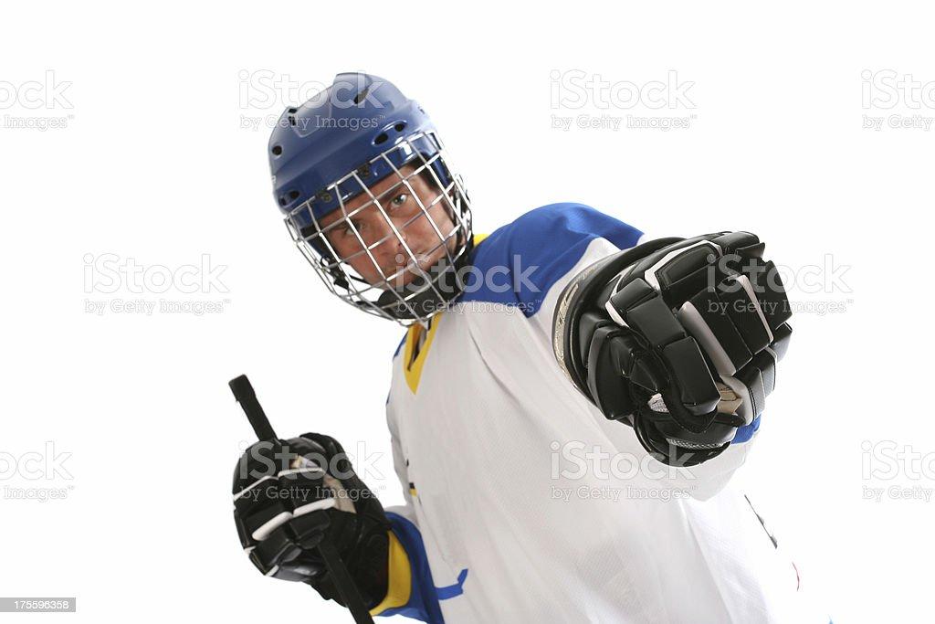 Hockey player royalty-free stock photo