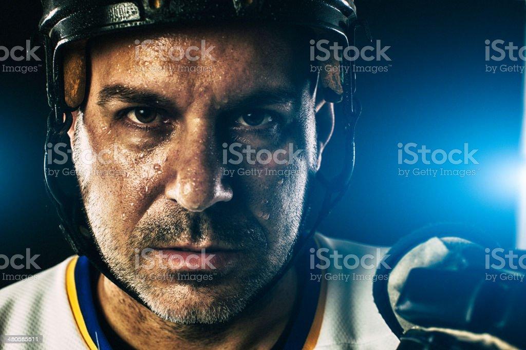 hockey player portrait stock photo