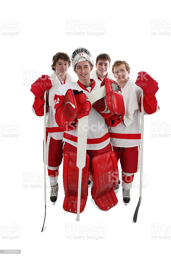 Hockey Players and Best Friends stock photo