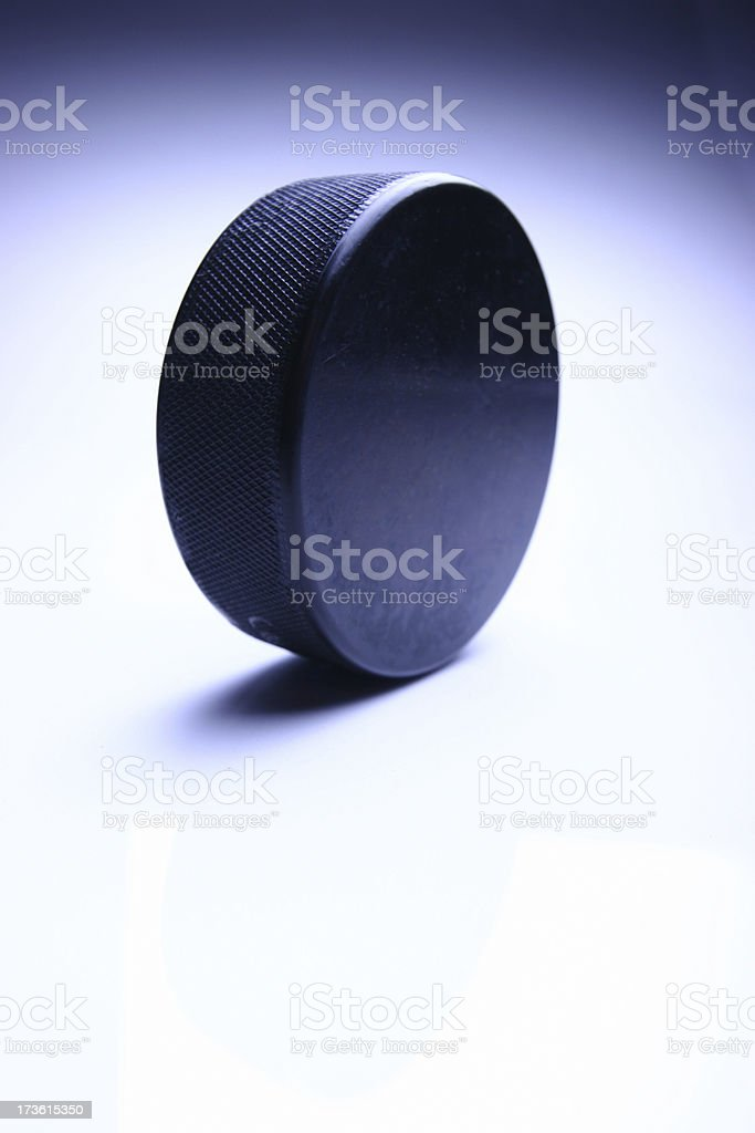 hockey puck presentation 2 royalty-free stock photo