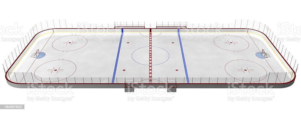 hockey rink stock photo