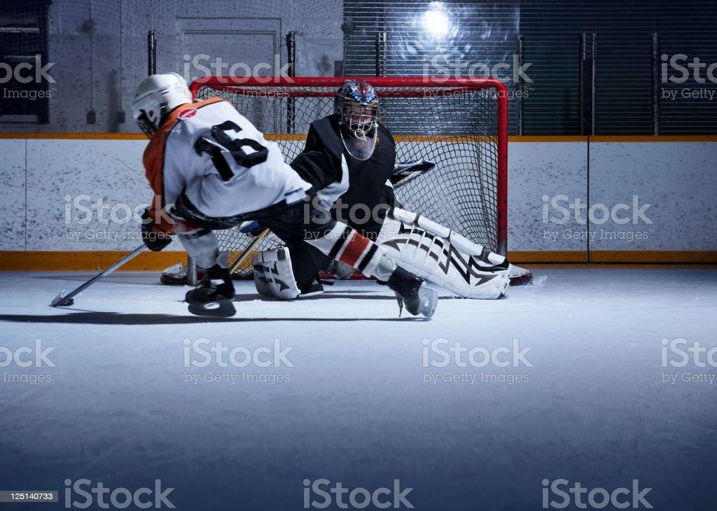Hockey Shoot Out stock photo