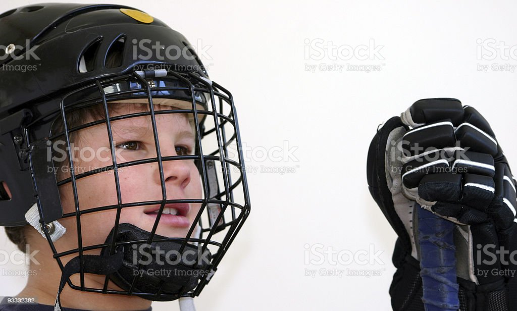 hockey smile royalty-free stock photo