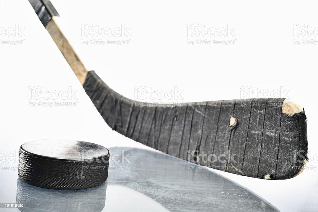 Hockey Stick & Puck stock photo