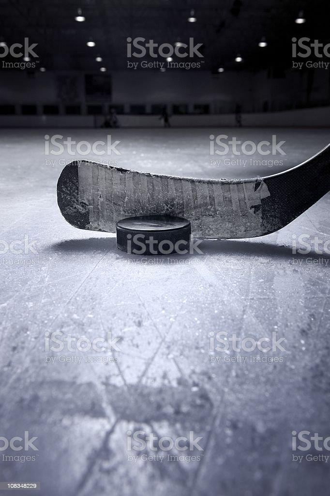 Hockey Stick and Puck stock photo