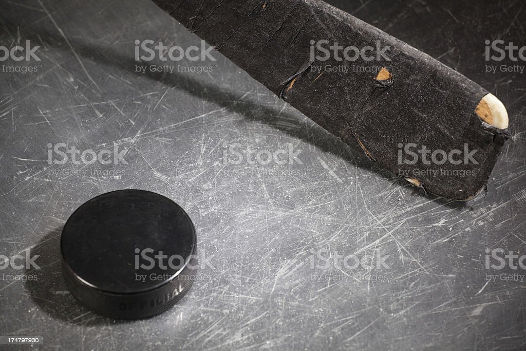 hockey Stick & Puck royalty-free stock photo