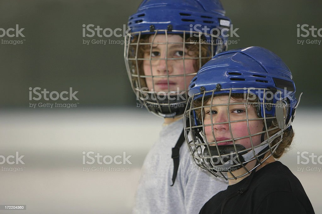 hockey tough guys royalty-free stock photo