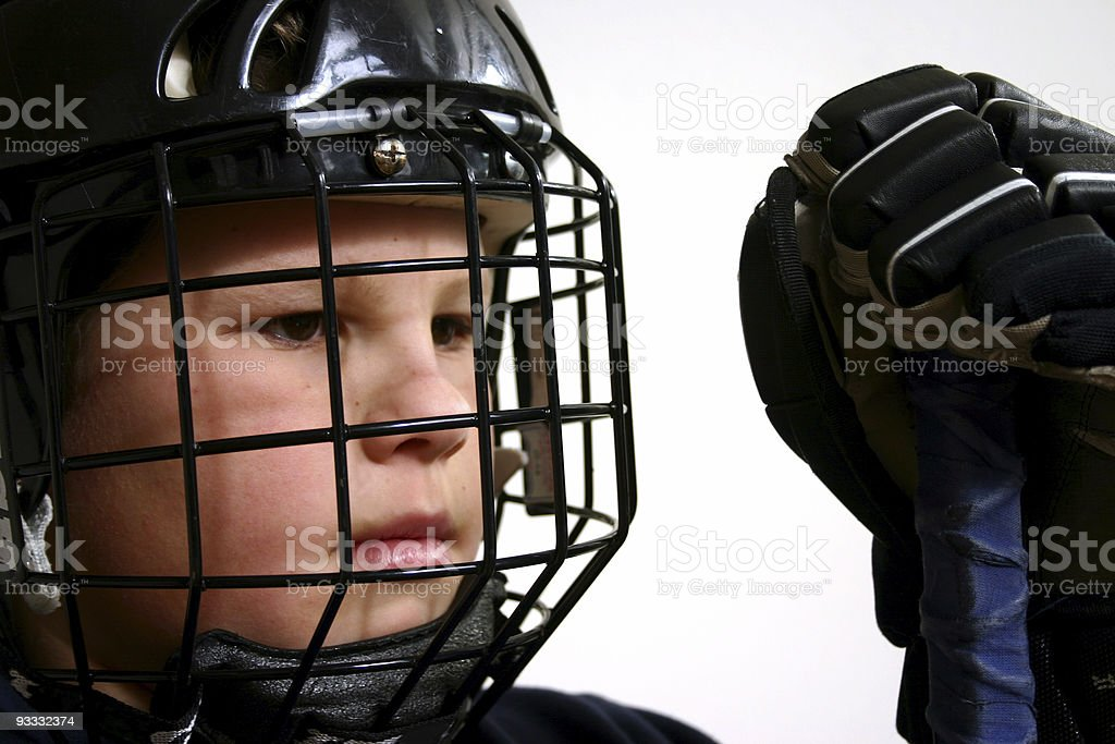 Hockey youth royalty-free stock photo