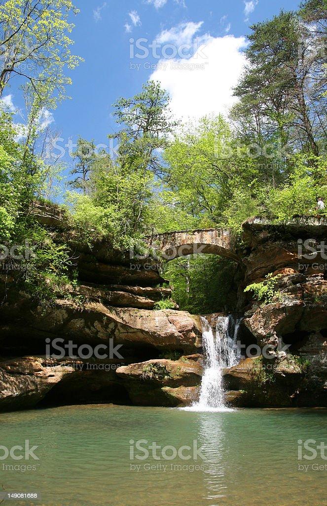 Hocking Hills Waterfall royalty-free stock photo