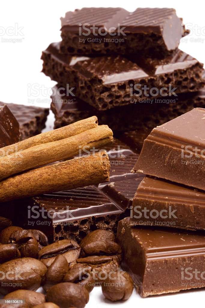 hocolate, coffee and cinnamon royalty-free stock photo