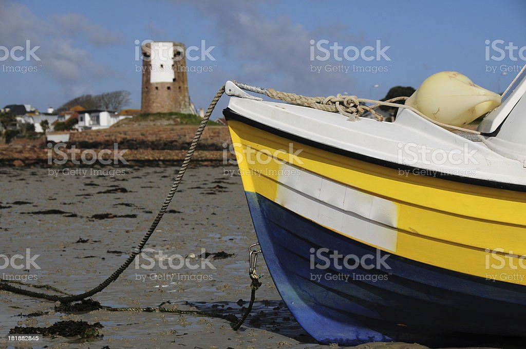 La Hocq harbour, Jersey. royalty-free stock photo