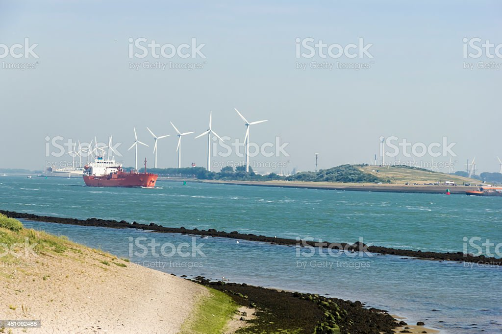 Hoek van Holland Netherlands Europoort Rotterdam harbour stock photo