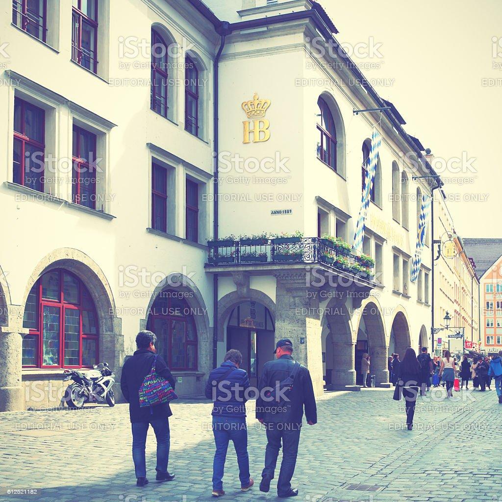 Hofbraeuhaus beerhouse stock photo