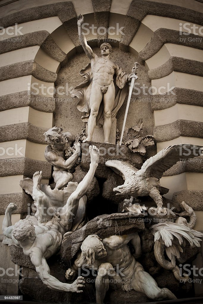 Hofburg Fountain, Vienna Austria royalty-free stock photo