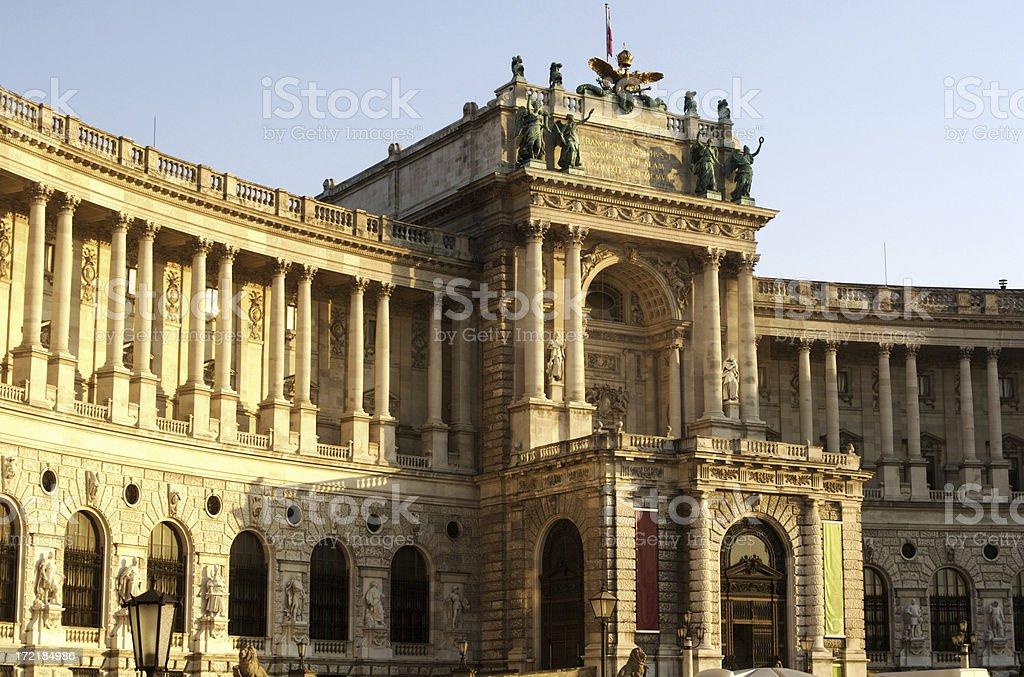 Hofburg Palace in Vienna Austria royalty-free stock photo