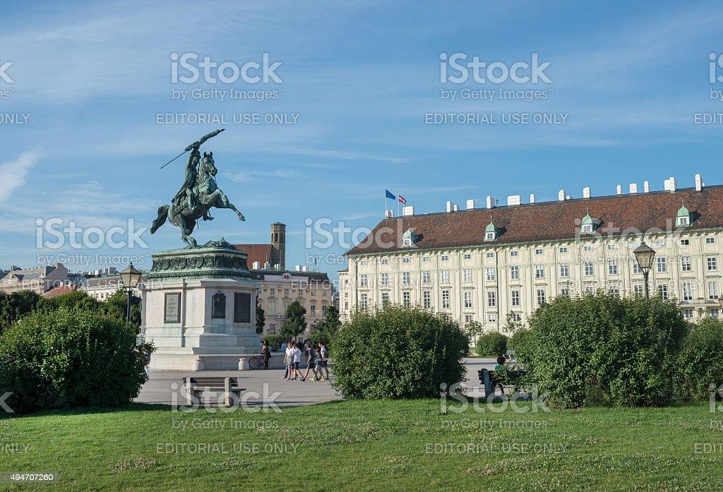 Hofburg statue stock photo