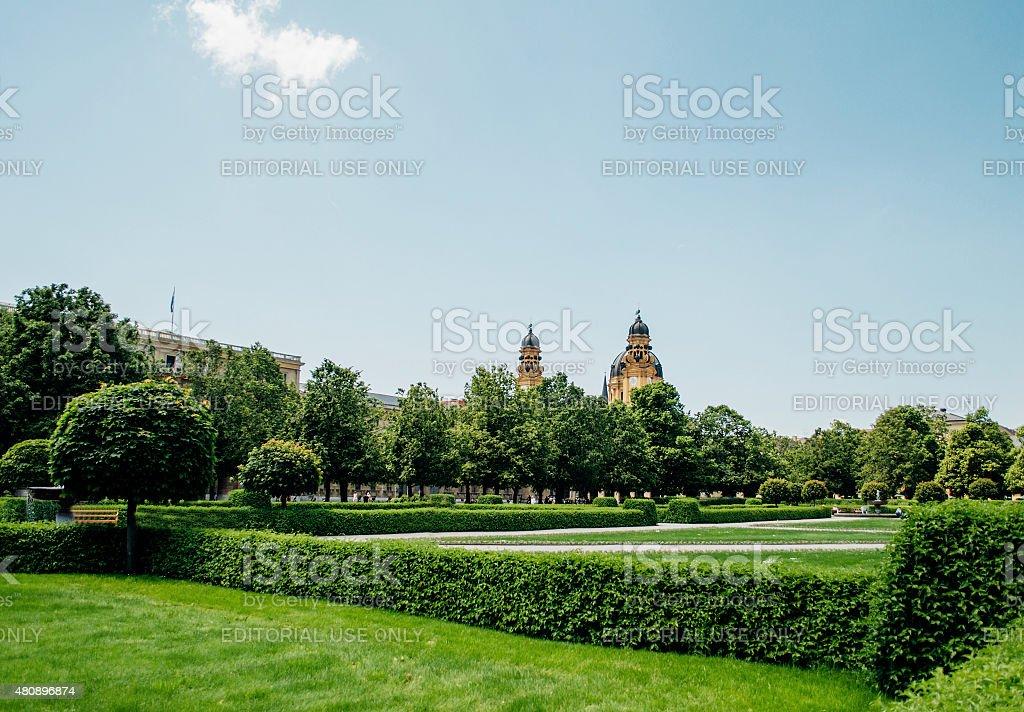 Hofgarten park in Munich, Germany stock photo