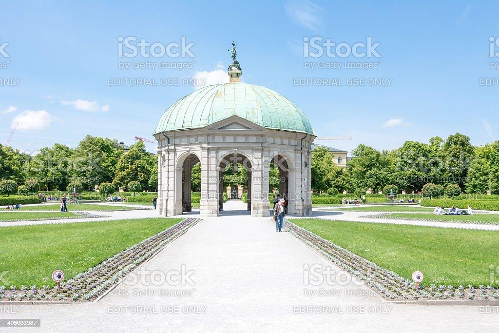 Hofgarten Park in Munich stock photo