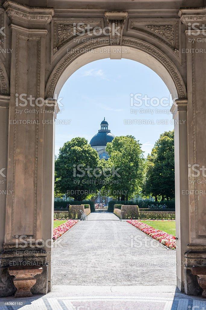 Hofgartenpark in Munich stock photo