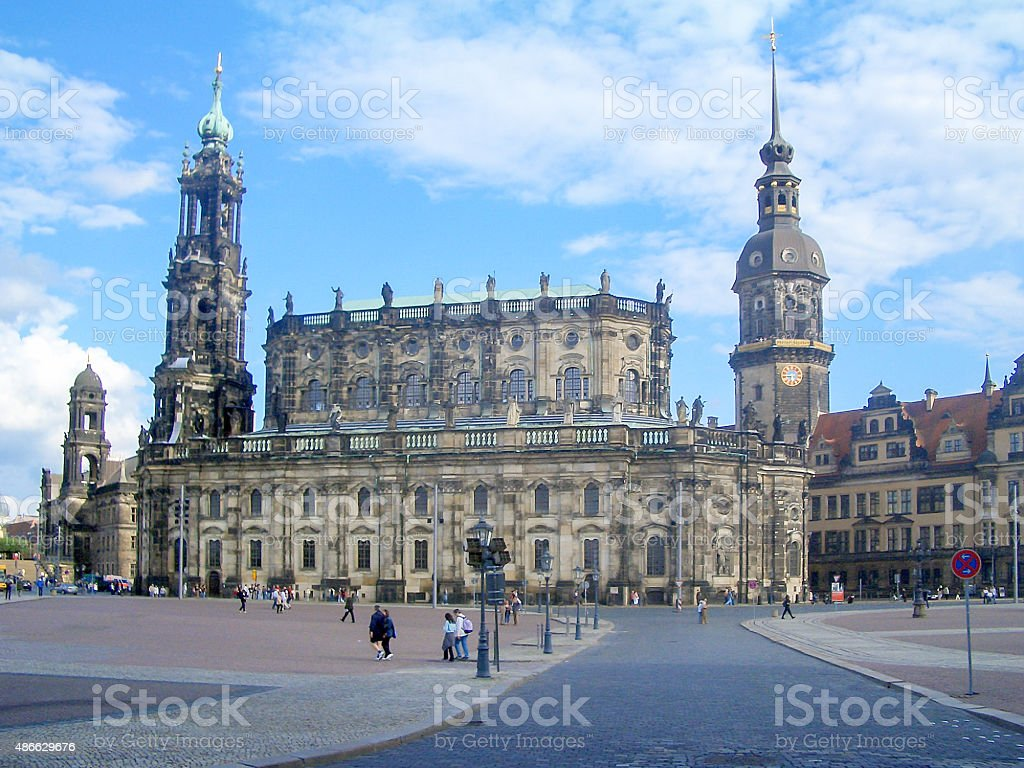 Hofkirche, Dresden Cathedral stock photo