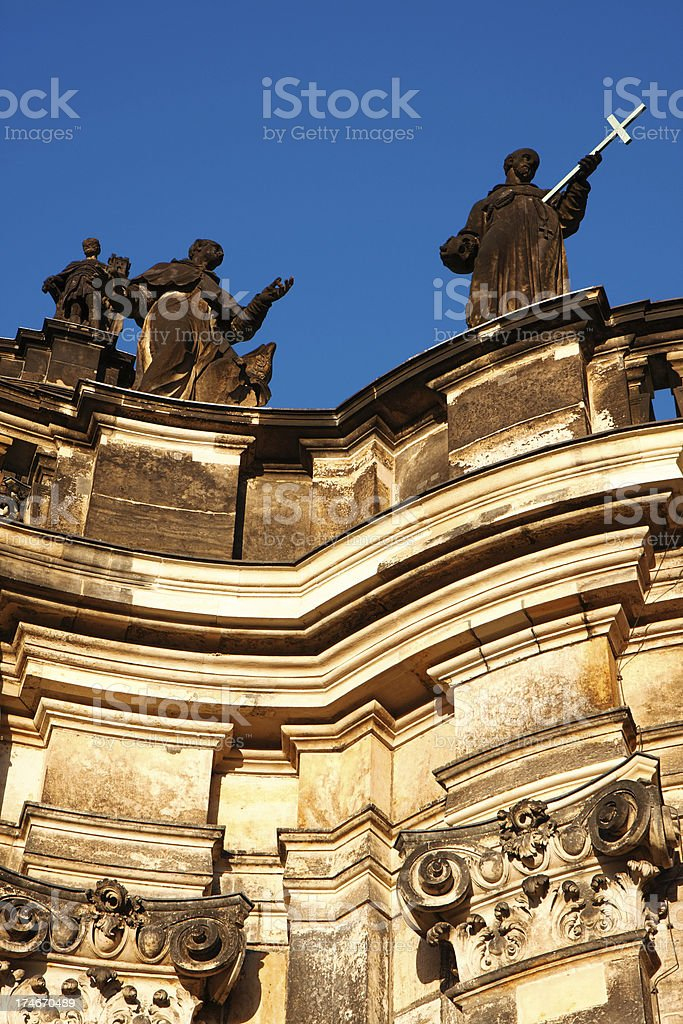 Hofkirche Dresden royalty-free stock photo
