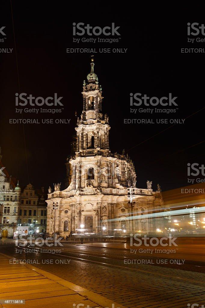 Hofkirche in Dresden stock photo