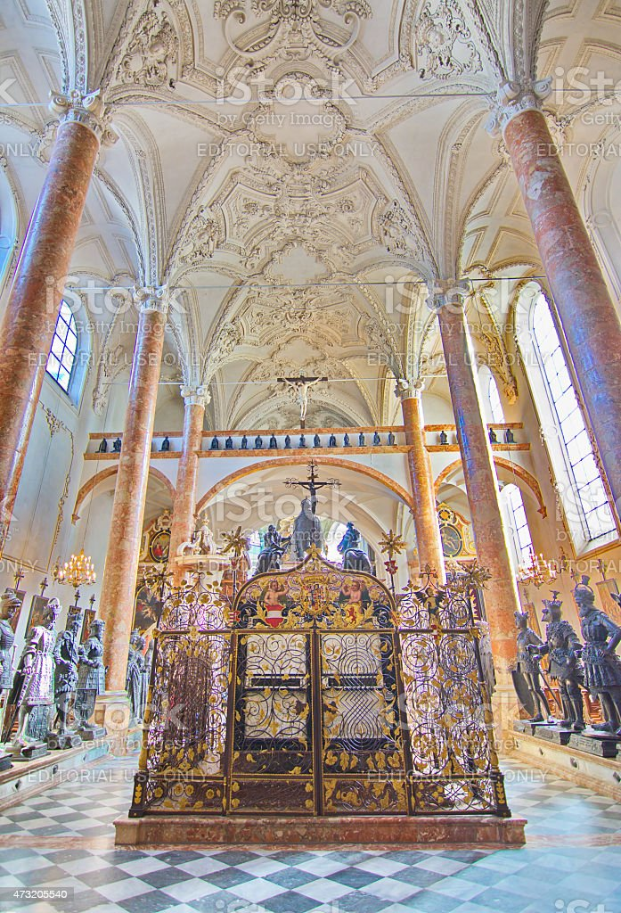 Hofkirche (Court Church)  in Innsbruck, Austria stock photo