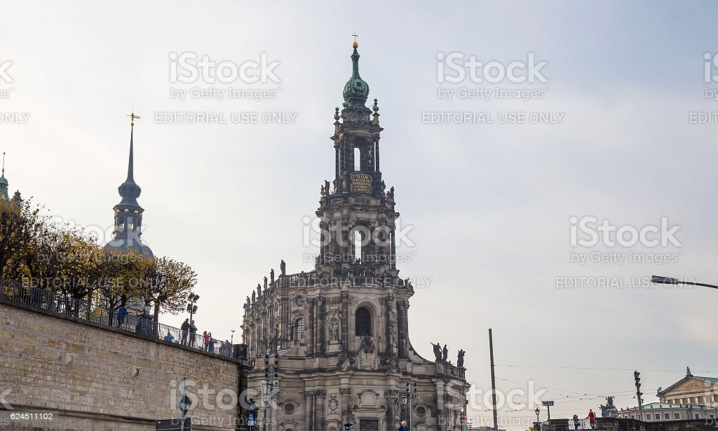 Hofkirche or Cathedral of Holy Trinity -  Sachsen, Germany stock photo