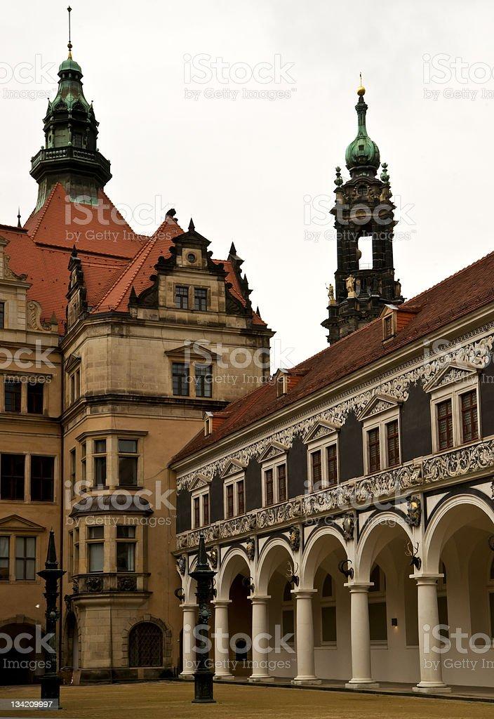 Hofstall of Dresden Royal Palace stock photo