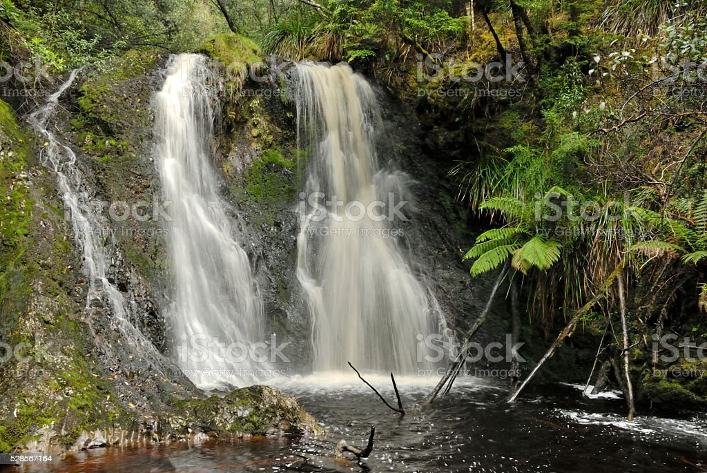 Hogarth Falls, Tasmania stock photo