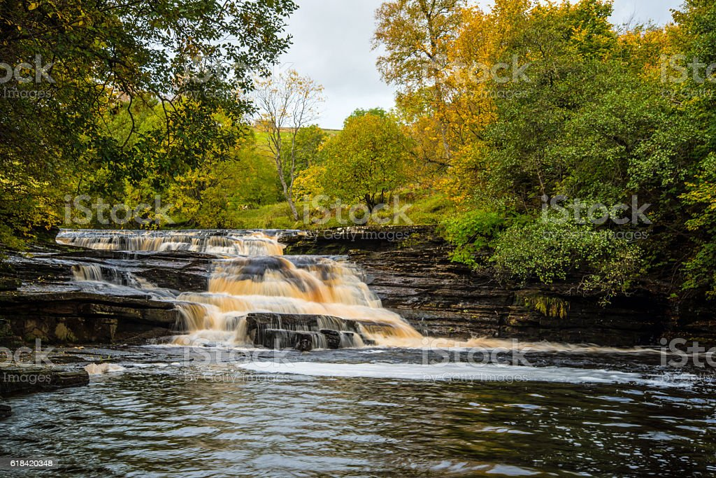 Hoggarths leap in Swaledale. stock photo
