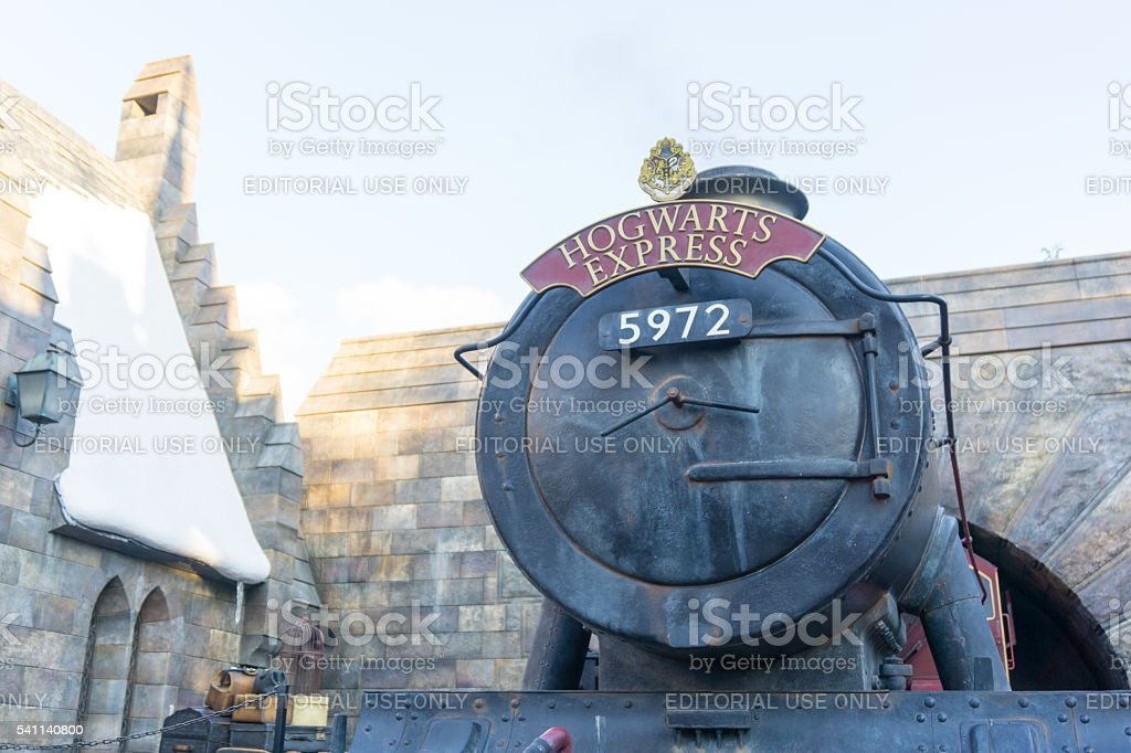 Hogwarts Express Train at Wizardly World of Harry Potte stock photo