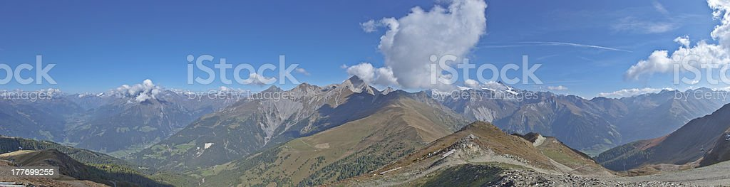 hohe tauern panorama royalty-free stock photo
