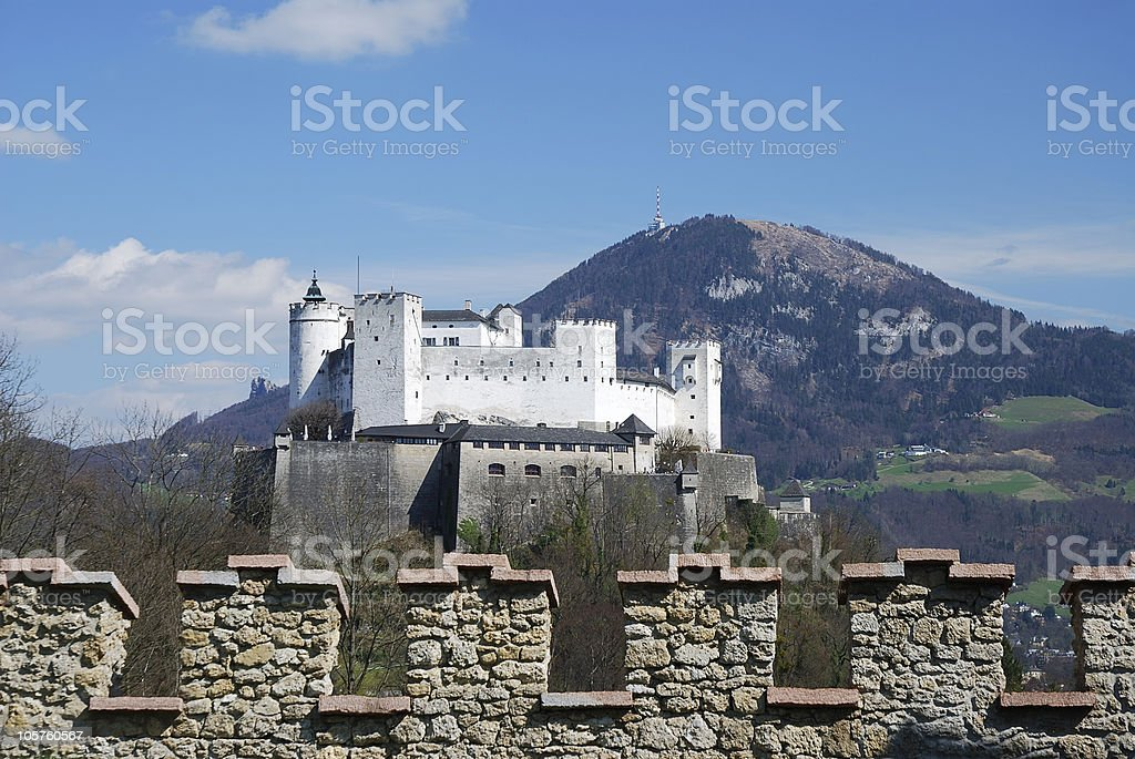 Hohensalzburg castle stock photo