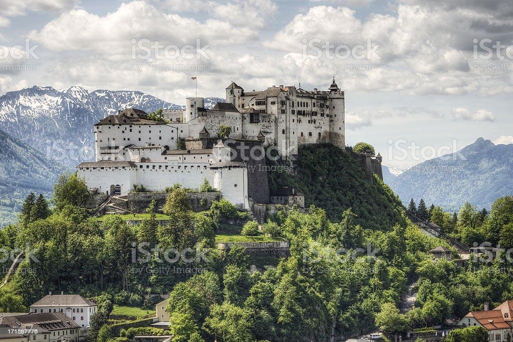 Hohensalzburg Fortress in Austria stock photo