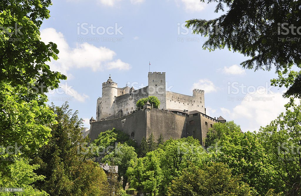 Festung Hohensalzburg in Salzburg royalty-free stock photo