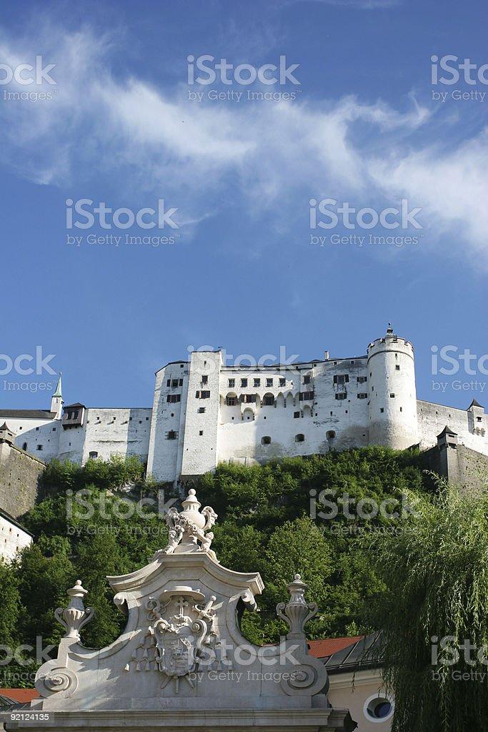 Hohensalzburg fortress stock photo