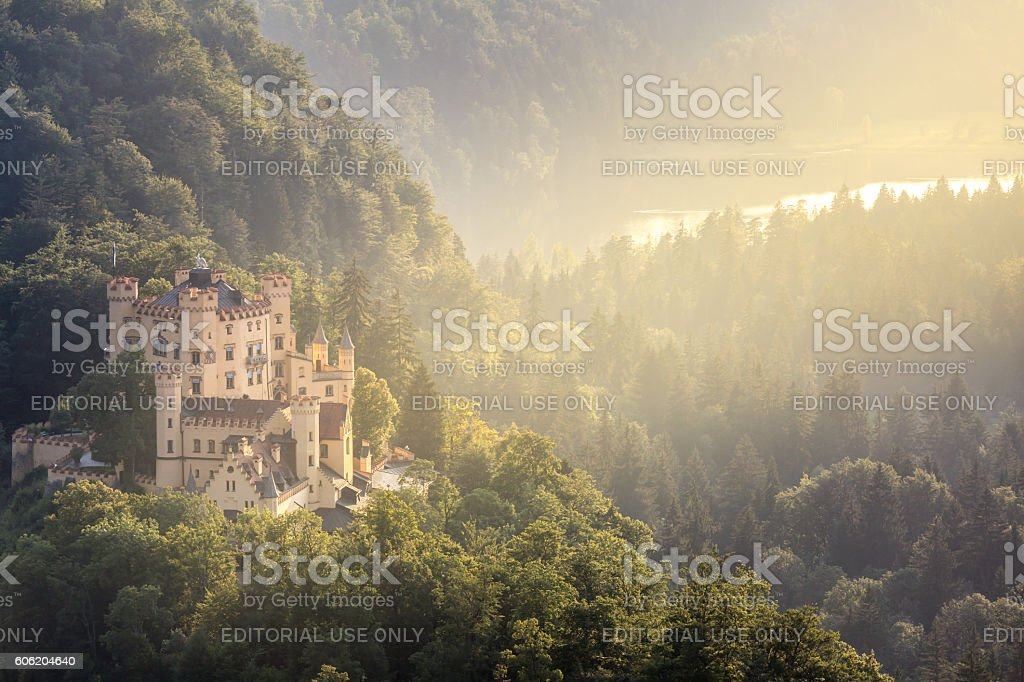 Hohenschwangau castle at Fussen Bavaria, Germany stock photo