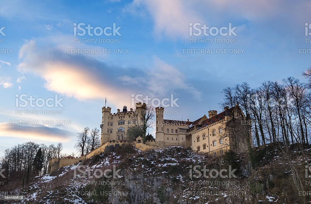 Hohenschwangau castle in Bavaria stock photo